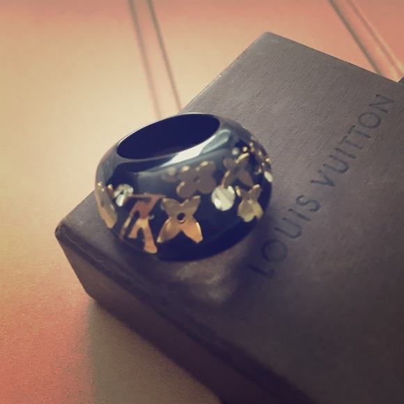 b1dba79dac1 Louis Vuitton Jewelry - Louis Vuitton Inclusion Ring Gold and Black